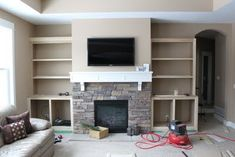Hammers and High Heels: Fireplace Built Ins