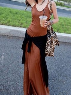 Orange The Straps Cross Backless Dress
