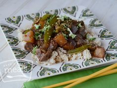 Pineapple Beef Teriyaki - Once a Month Meals