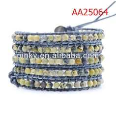 best sellers fo r 2013 Yellow turquoise and leather bracelet, View turquoise and leather bracelet, pealing Product Details from Guangzhou Pealing Jewelry Co., Ltd. on Alibaba.com