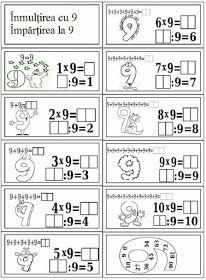 EDUCATIA CONTEAZA : INMULTIREA SI IMPARTIREA CIFERELOR Simple Math, Math Worksheets, Division, Sheet Music, Education, Sd, Child, Math Exercises, Multiplication Tables
