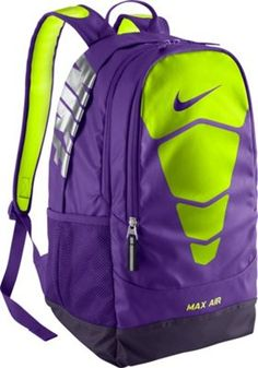 eb9f5b6fd0 Nike Vapor Max Air Backpack Grape purple and green volt