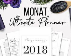 2018 Monat Ultimate Business Planner Bundle Printable
