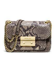 MK Small Sloan Snake-Embossed Shoulder Bag