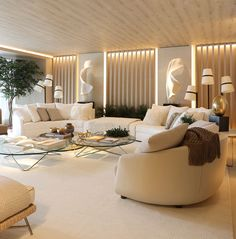 Living Room Wall Designs, Home Living Room, Living Room Furniture, Living Room Decor, Architectural Digest, Interior Architecture, Interior Design, Furniture Layout, Luxury Apartments