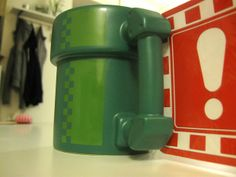 Super Mario pipe mug...want!!