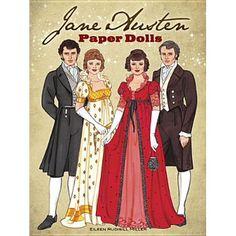 Jane Austen Paper Dolls: Four Classic Characters: Eileen Rudisill Miller… Paper Dolls Book, Vintage Paper Dolls, Paper Toys, Elizabeth Bennett, Princess Line, Anime Princess, Jane Austen Books, Paper Dolls Printable, Regency Era