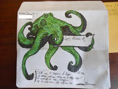 octo. envelope art! Seeing Art.fully