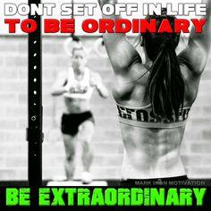 Be extraordinary #MarkIron