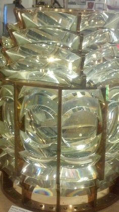 4th order fresnel lens from cuckholds lighthouse, boothbay harbor, maine on display at the lighthouse museum in rockland, maine