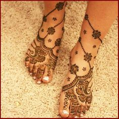 Wedding Mehndi Design Full Arms And Feet For Bridal