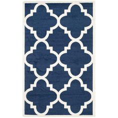Safavieh Amherst Navy/Beige 5 ft. x 8 ft. Indoor/Outdoor Area Rug-AMT423P-5 - The Home Depot