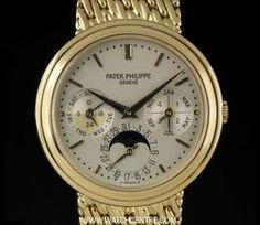 Patek Philippe Y/G Silver Dial Perpetual Calendar Moonphase 3945J