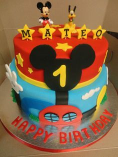 Mickey Mouse Themed Birthday Cake