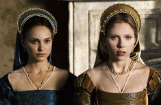 Pin for Later: 32 Perfect Pop Culture Halloween Costumes For Sisters Anne and Mary Boleyn From The Other Boleyn Girl Mary Boleyn, Anne Boleyn, Halloween Costumes For Sisters, Pop Culture Halloween Costume, Scarlett Johansson, Philippa Gregory, Stanley Kubrick, Natalie Portman Black Swan, Renaissance Hairstyles