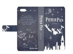 Book phone /iPhone flip Wallet case- Peter Pan for iPhone 6, 6 plus, 5, 5s, 5c, iPhone 4, 4s- Samsung Galaxy S6 S5 S4 S3, Note 3, 4
