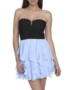 Shirred Chiffon Tube Dress CLEARANCE