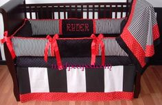 Bailey Red Baby Bedding