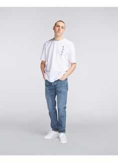 The Zenit is an oversized fit tee made from Cotton.Item Number: Julius is tall and is wearing size L. Item Number, Normcore, Tees, Fitness, Cotton, T Shirt, How To Wear, Style, Fashion