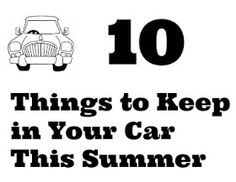 Summertime car essentials