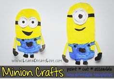 Print and Create Minions - perfect for after we see the movie this weekend. (From Learn Create Love)