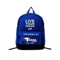 3f59e0a48e1f Custom Logo Printed Blue Polyester School Backpack Bag - BB140909881