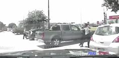 """The video shows Richter dragging King out of her car and throwing her to the ground after a conversation where he asked her to put put her feet back in the car and close the door. 
