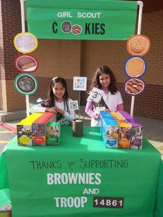 Troop 14861 at their Girl Scout Cookie Booth   #BlingMyBooth #GirlScoutCookies