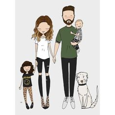When you love what you have you have everything you need Family Illustration, People Illustration, Portrait Illustration, Cute Illustration, Illustrations, Family Drawing, Family Painting, Drawing For Kids, Family Portrait Drawing