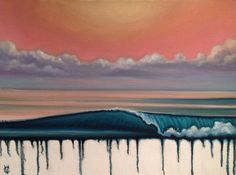 Sunset Wave .Original Oil on Canvas by Carin Vaughn
