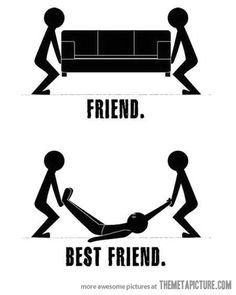 Difference between friends and best friends