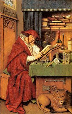 VAN EYCK Jan van Eyck: Flemish painter (Maaseik? ca. 1390 - Brugge 1441) - Saint Jerome in his study
