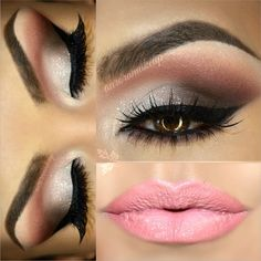 This is beautiful BUT you NEED a big lid and crease in order to bring in the crease color that far. Keep that in mind if it will work with your eye shape.