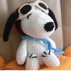 Christmas Amigurumi Pilot Snoopy Puppy Dog Crochet by getfun