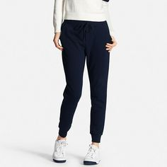 These women's sweats are updated with an elegant, feminine silhouette and material with a light, yet sturdy texture. The rear yoke is slightly higher, keeping them from sagging and maintaining a neat rear view. They work great as lounge pants, but are stylish enough to wear out and about too. In addition to side pockets, they also feature a rear patch pocket that adds a design touch.
