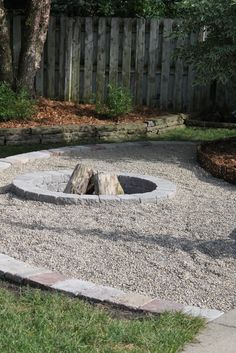 pea gravel fire pit - we already have the pea gravel area....