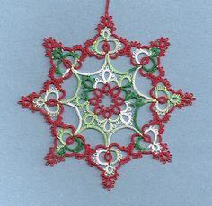 Tatting Fool: Christmas Ornament