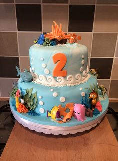 Finding nemo birthday cake,  Made this for my daughters second birthday. I…