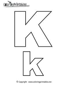 alphabet letter k coloring page a free english coloring printable - Letter Coloring Pages Printable