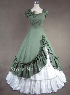 Barato Frete grátis! Ordem personalizada! Vestido renascentista, colonial saia…