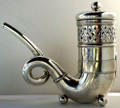 English Sterling Silver Hookah Water Pipe London 1877