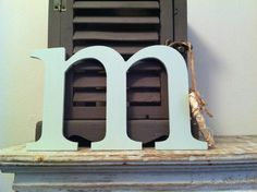 Handpainted Wooden Wall Letter - m - New Times Roman - lowercase by LoveLettersMe on Etsy