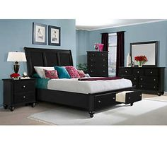 Jasper Coffee Brown Bed - Overstock™ Shopping - Great Deals on Beds Master Bedroom Set, Bedroom Art, Queen Bedroom, Bedroom Ideas, Art Van, Bedroom Furniture Sets, New Furniture, Layout, Make Your Bed