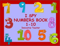 Numbers Book 1-10 by Innovative Teacher (I Spy)