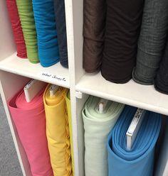 shelf with wool knits