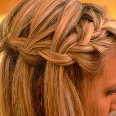 French braid into waterfall braid <3