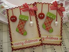 Merry Christmas Stocking Ornament Embellishments | by vsroses.com