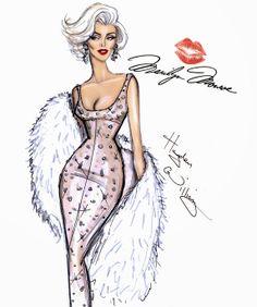 #Hayden Williams Fashion Illustrations #Marilyn