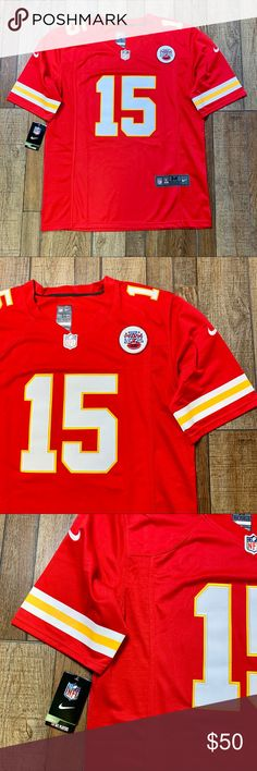 NWT Pat Mahomes KC Chiefs Nike OnField Jersey Brand New   Perfect Condition  Patrick Mahomes   119e7c38f