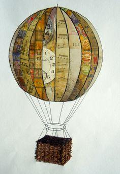 hot air balloon drawings | Hot Air Balloon Basket Drawing
